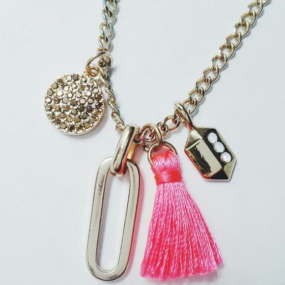 CLOSING SALE - BaubleBar Pink Tassel Necklace NWOT